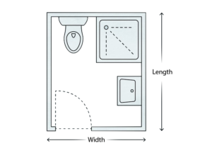 Typical shower room layout