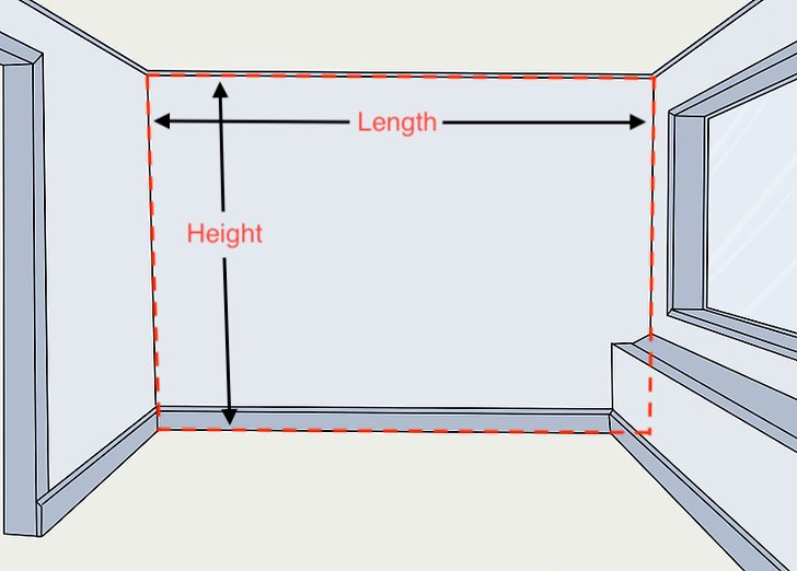 Measure wall to remove